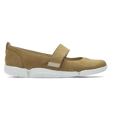 Clarks Tri Carrie Tan Nubuck| Phillips Shoes | FREE Delivery