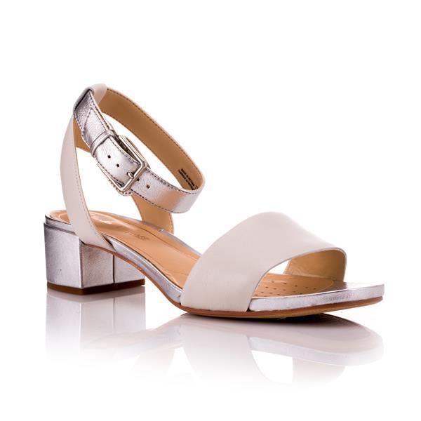 e380a2f22ed Clarks Orabella Rose White Silver Sandal